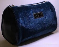 NEW! Lancome Black Faux Fur Cosmetic Makeup Bag - Dark Green