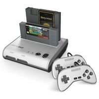 Retro-Bit Retro Duo 2 in 1 Console System - for Original NES and SNES Games -...