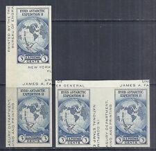 1934 US 768a Farley Byrd Antarctic Expo Vertical & Horizontal Gutter Pairs