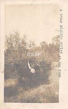 A37/ Jefferson City Missouri Mo RPPC Postcard 1906 Orchard Tramp Picking Apples