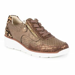 Lunar Amelie Brown Wedge Fashion Trainers. Sizes 3-8