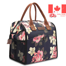 Lunch Bags for Women Floral Lunch Tote Water-Resistant Cooler Bag Soft Leak P...