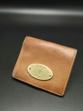 Mulberry Plaque Card/Coin/ID Wallet Case in Oak Leather