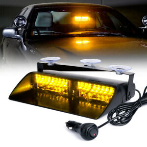 Xprite Dash LED Windshield Hazard Strobe Light Bar Interior Emergency Amber
