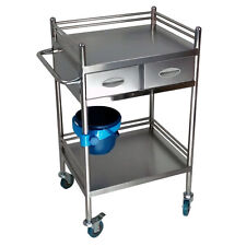 2 Drawers Zebra Portable Layers Serving Medical Dental Lab Z16B8 Cart Trolley