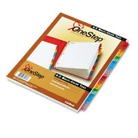 Cardinal Traditional OneStep Index System, 26-Tab, A-Z, Letter, Assorted, 26/Set
