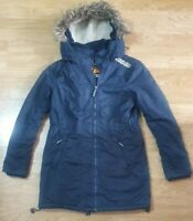 Superdry The WindCheater Coat Hooded Fur Jacket Ladies Size L