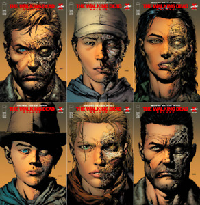 WALKING DEAD DELUXE #1 2 3 4 5 6 2ND PRINT VARIANT SET (NM) DAVID FINCH - IMAGE
