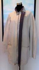 """Ermenegildo Zegna Italy Khaki Cotton Car Trench Coat w Hood Sz XL/54"""""""