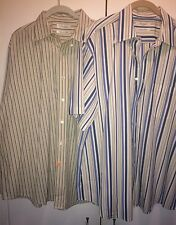 Men's Dress Shirt Lot Of 2 Turnbury Signature Poplin XL Shirts Cream White