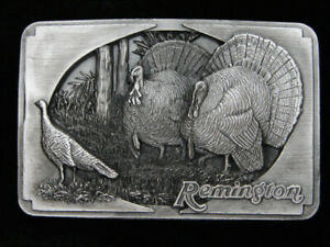 QJ07127 2002 **REMINGTON** GUN & HUNTING COMPANY ADVERTISEMENT BELT BUCKLE