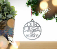 Our First Christmas as Mr and Mrs - Christmas tree bauble, decoration, ornament
