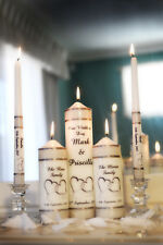 Entwind hearts Personalised wedding medium set Unity Candles gift ceremony