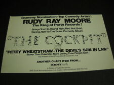 Rudy Ray Moore The King Of Party Records original 1971 music biz Promo Advert