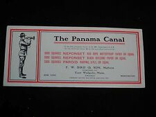 """Antique Blotters """"The Panama Canal"""" F.W. Bird & Son, East Walpole, Ma. Roofing"""