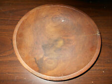 EARLY ANTIQUE PRIMITIVE WOOD WOODEN BOWL WITH MAKE-DO REPAIR