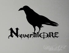 NEVER MORE WALL DECAL LETTERING  vinyl sticker CROW CORBEAU RELIGION  NEVERMORE