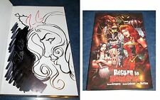signed original art sketch in GRIMM FAIRY TALES presents RETURN TO WONDERLAND HC