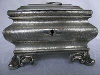 BIEDERMEIER ZUCKERDOSE SILBER 12 LOT / 750-ER DEUTSCHLAND UM 1820