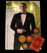 Skyfall Royal Premiere programme & Skyfall Poker Chips & Card - Casino Royale