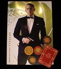 Skyfall Royal Premiere programme & Skyfall Poker Chips & Card - Casino Royale