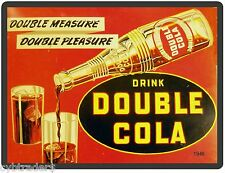 Double Cola  Advertising Repro  Refrigerator / Tool Box Magnet