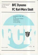 OL 88/89  FC Karl-Marx-Stadt - BFC Dynamo Berlin