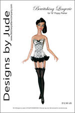 "Bewitching Lingerie Doll Clothes Sewing Pattern 16"" Fashion Royalty Tullabelle"