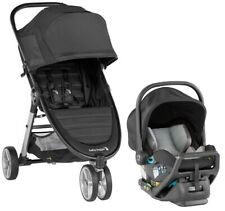 Baby Jogger City Mini 2 Travel System Stroller w/ City Go Infant Car Seat Jet