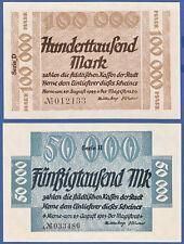 Herne 50000 + 100000 mark 1923 casi kassenfrisch