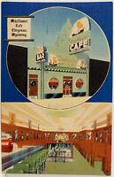 CHEYENNE WYOMING Mayflower Cafe LARAMIE COUNTY Vintage Linen Photo Postcard