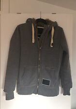 Men's/Teenage Boy's Superdry Blackseal Grey Hooded Inner Fur Winter Jacket-Small