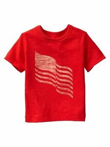 70% OFF! AUTH BABY GAP BOY'S FLAG GRAPHIC TEE 12-18 MOS BNEW SRP US$16.95+