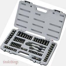 Mechanical Socket Tool Kit Set Wrenches Laser Ratchet Craftsman Storage Case New