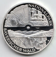 10 Euro Gedenkmünze Nationalpark Bay. Wald 2005 Polierte Platte Silber 925/-