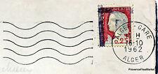ALGERIE SURCHARGE EA 1962  LETTRE  ALGER  GARE  EA09
