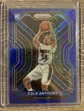 Cole Anthony 2020-21 NBA Prizm Blue Shimmer FOTL 02/35