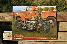 Scott Jacobs Indian Summer Tin Metal Sign - Sturgis - Chief - Scout - Motorcycle