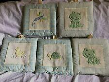 LAMBS & IVY Nursery Decor Set Of 5 Baby Wildlife Animals ~Frog Duck Turtle~ NWOT