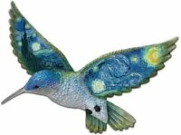 """Starry Night"" Van Gogh - Hummingbird Wall Plate Decor Art - Bradford Exchange"