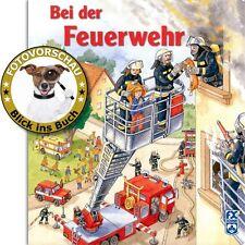 Bei der Feuerwehr! Hausbrand Überschwemmung Unfall uvm. (Pappbuch / Wimmelbuch)