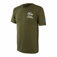 Ford Proud to Honor Aye Aye Graphic T-shirt Olive Green Military Support Heroes