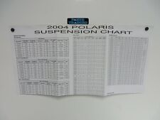 Genuine Polaris Dealer Service Snowmobile Suspension Data Spec Sheet 2004