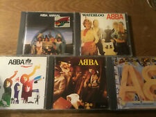 ABBA [5 CD Alben] Waterloo + ABBA + Album WEST GERMANY+ Live + Arrival (France)