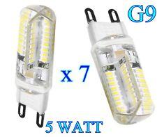 LAMPADINA LED  ATTACCO G9 5 WATT RISPARMIO ENERGETICO  LUCE FREDDA 7 pezzi