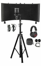 Rockville Pro Recording Studio Microphone, Isolation Shield, Headphones and Stand