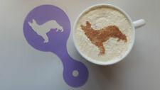 2 stampini x alsaziano / cane pastore tedesco cappuccino riutilizzabile