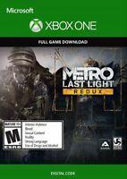 Metro Last Light Redux Xbox One Codice Download per Gioco Digitale Italiano Key