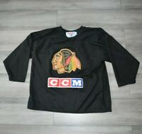 Vintage Chicago Blackhawks CCM Jersey Size Large Black