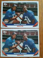 Two (2) 1993 Topps #275  Michael Strahan RC Giants HOF